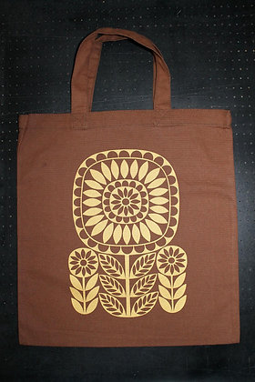 Sunflower Totebag - Brown