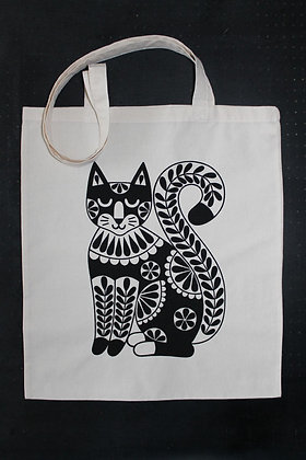 Black Cat Totebag - Small & Large Sizes