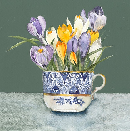 Spring Flower Cards - Pack of 6