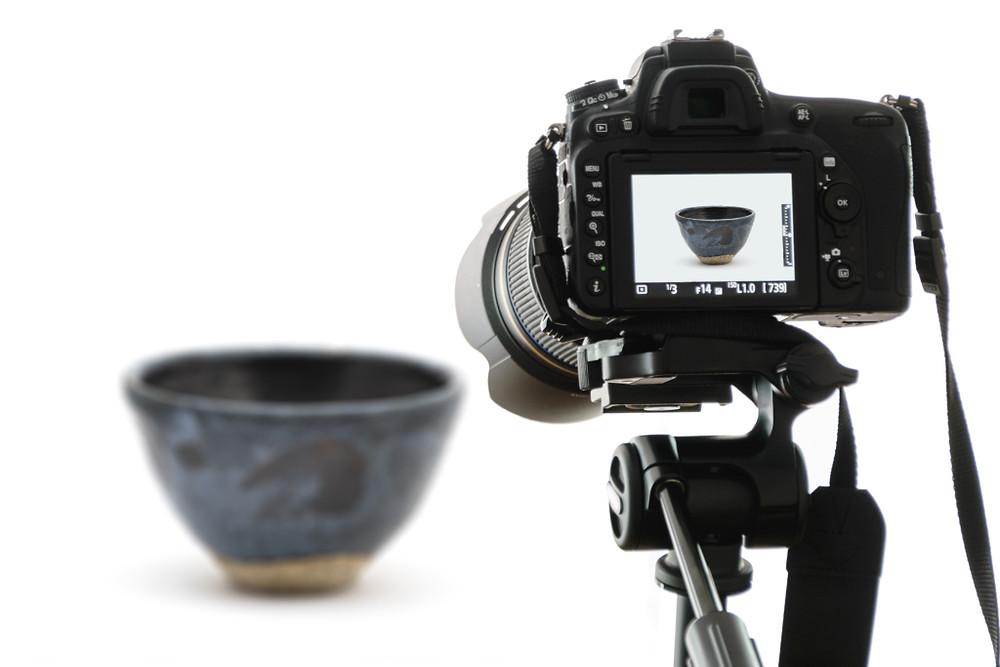 Camera taking photo of dish