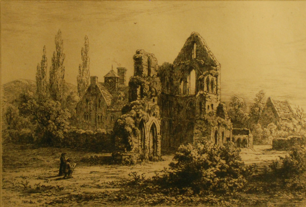 Baker, Samuel, Part of Wenlock Abbey, print, 2005X27