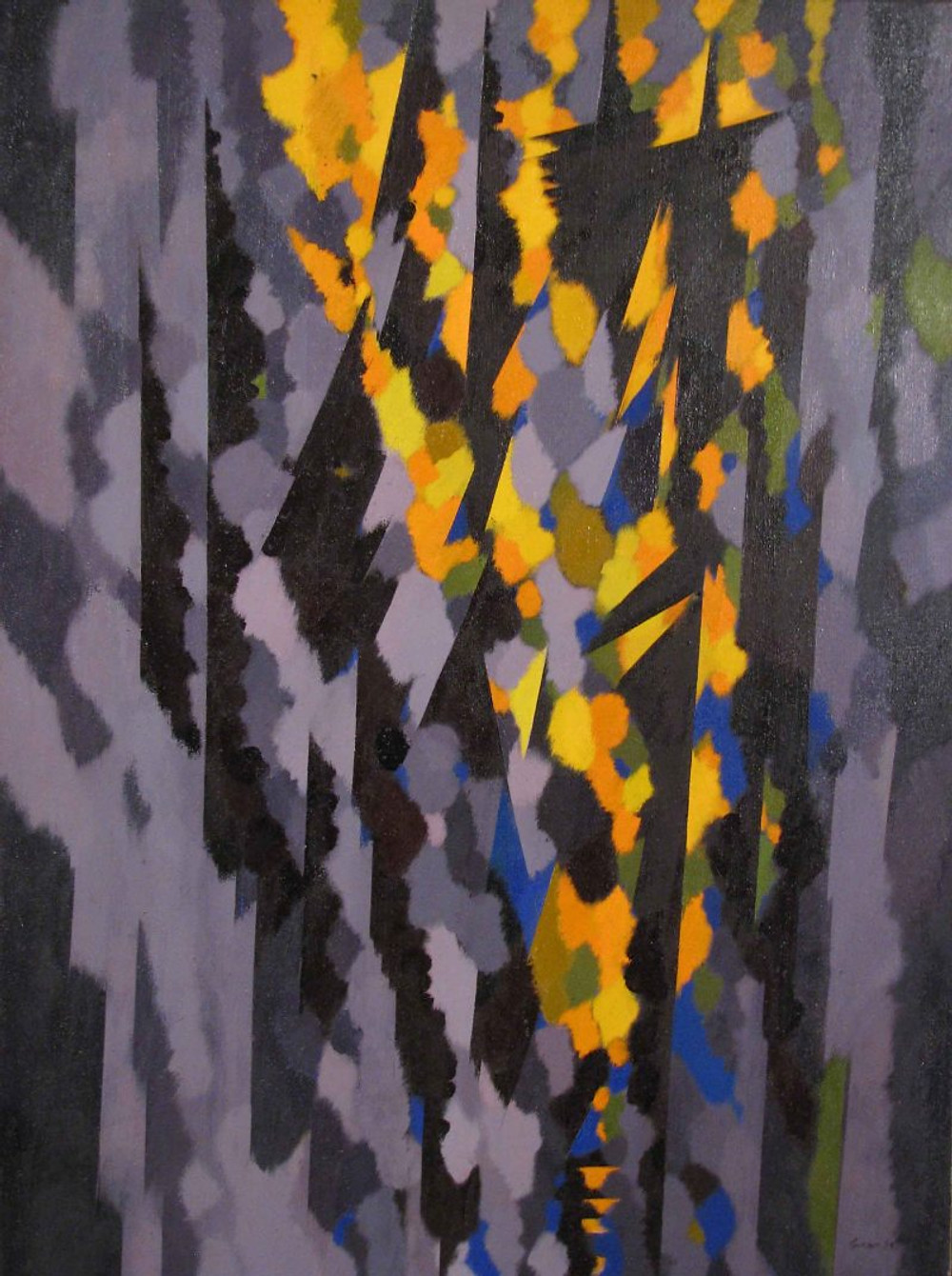 'Yellow Chevron' Sep 1964 48x36ins (Dph)