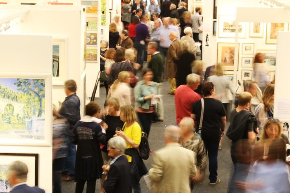 FRESH:Art Fair Private View at The Centaur, Cheltenham Racecourse. Thursday 11th of May 2017.