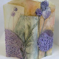 Candy Tuft Slab Vase