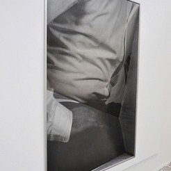 2016 Screen print on aluminium stainless steel 183cm x 122cm x 30cm