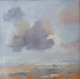 Brian Steventon RBSA, Dusk on the Saltmarsh