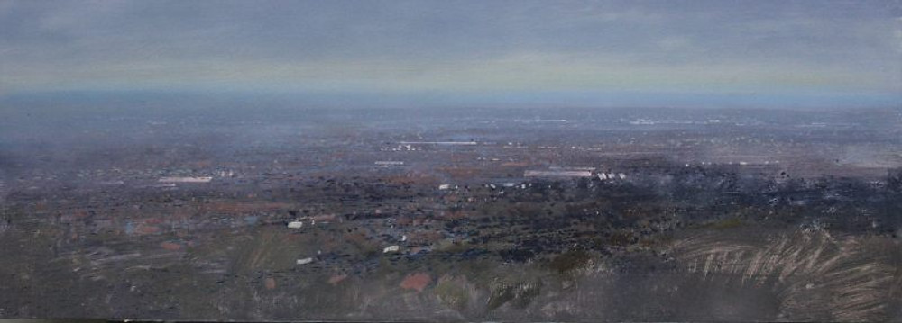 Robert Perry RBSA 'View East from Darby's Hill, Dudley'