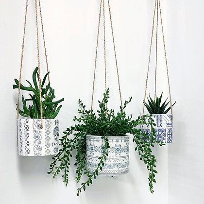Safflower Hanging Plant Pot