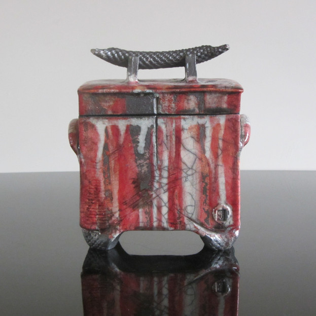 Lidded Box with Textured Handle, SOLD