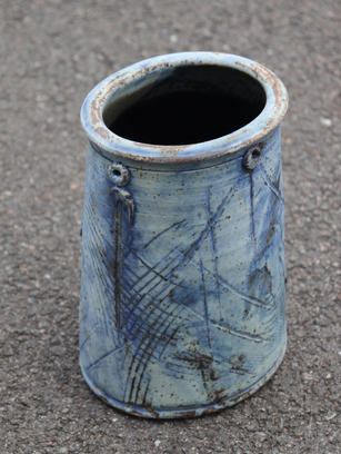 Oval Vase Matt Cobalt Glaze (Smaller)