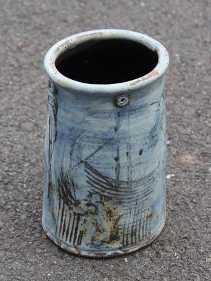 Oval Vase Matt Cobalt Glaze (Larger) SOLD