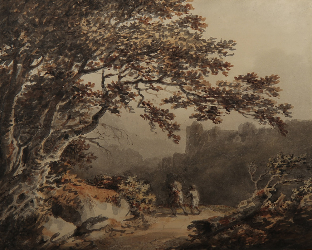 Joseph Barber, 'The Travellers on a Country Path, a Castle Beyond.' Photo credit: James White