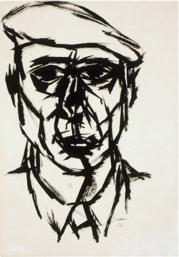 William Gear, 'Self Portrait' Ruth Borchard Collection