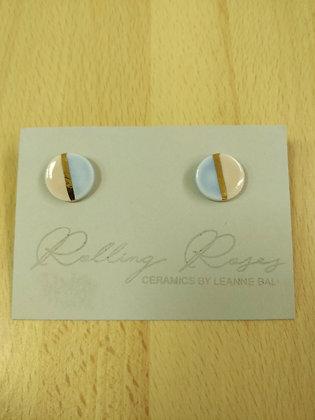Large Round Stud Earrings