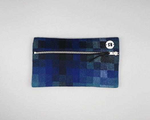 Blue Wool Pencil Case