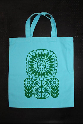 Sunflower Totebag - Turquoise