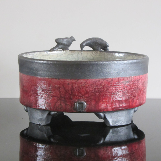Birds on the Edge Bowl - SOLD