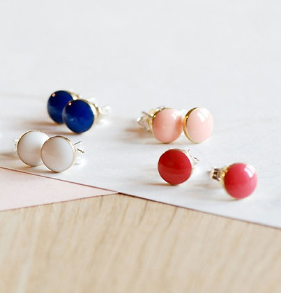 Colour Dot Stud Earrings