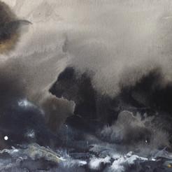 Heavy Storms over Rocks