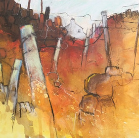Brian Fletcher RBSA, Welsh Walls, Posts and Mountains