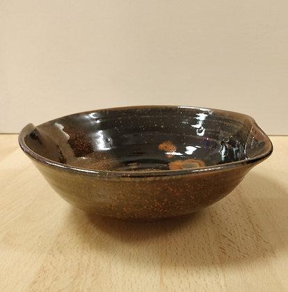 Stoneware Bowl Red/Black