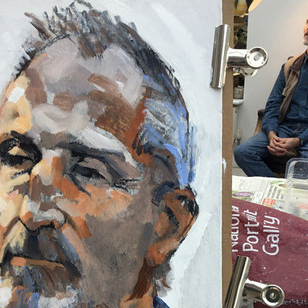 Get your portrait sketched at the RBSA by renowned artist John Davenport