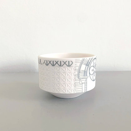 Etched Architecture Tealight Holder