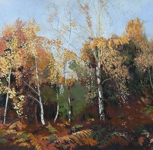 Linda Nevill  Silver birches Pastel.jpg