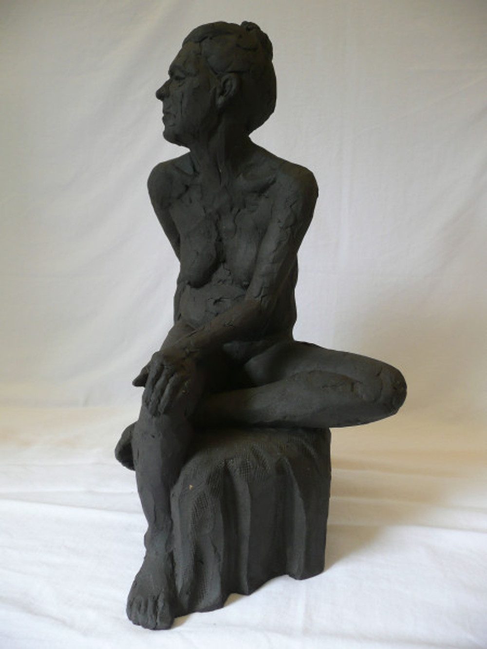 Brown. Paul. Seated Nude. View 1. Fired Stoneware