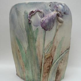 Elaine Hind RBSA, Iris Vase (Back View)