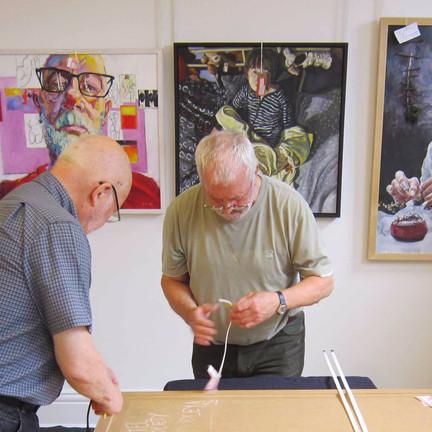 Artworks delivered as judging commences for RBSA Portrait Prize
