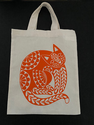 Orange Cat Totebag - Small & Large