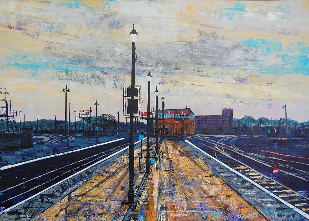 Rob Leckey ARBSA, 'Sunrise on Platform 4'