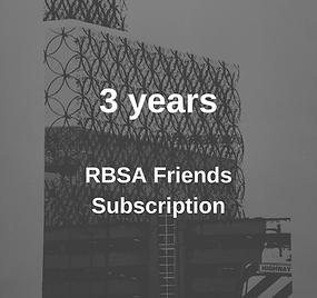 RBSA Friends Membership 3 Years