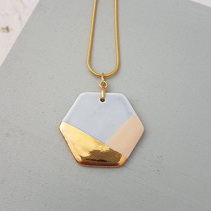 Blue Porcelain Pendant Necklace