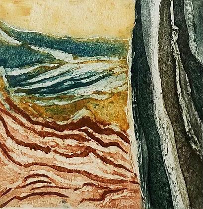 Sea and Rock Print, Linda Nevill