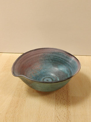 Porcelain Turquoise & Red Bowl