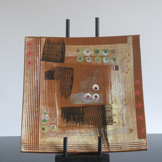Square Platter/Wall-Hanging