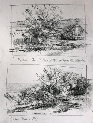 Willersey Hill Cotswolds, Compositional Study