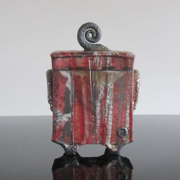 Lidded Box with Spiral Handle