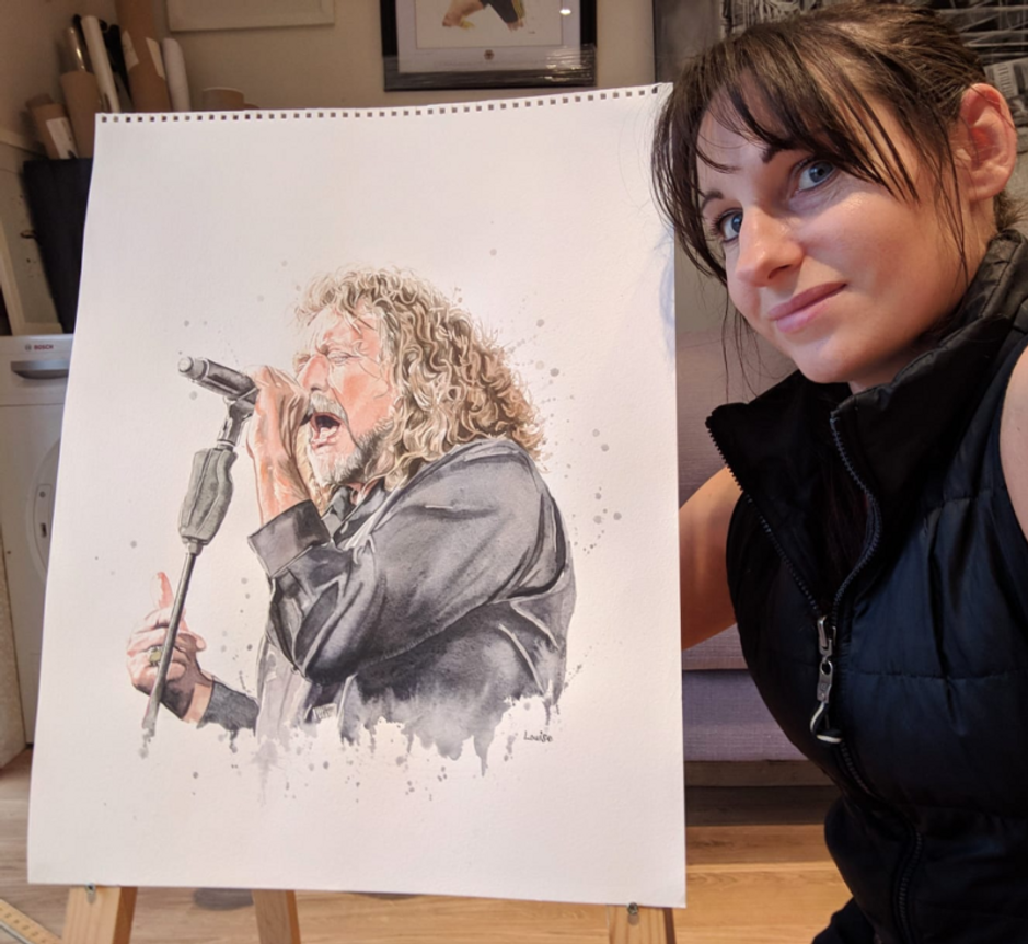 Louise with Robert Plant unframed (1)