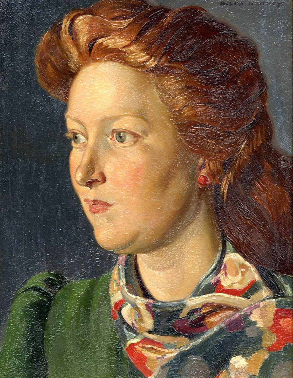 Hilda Mary Harvey, 'The Coloured Scarf'