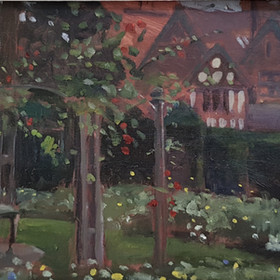 David George RBSA, The Rose Garden, Wightwick Manor