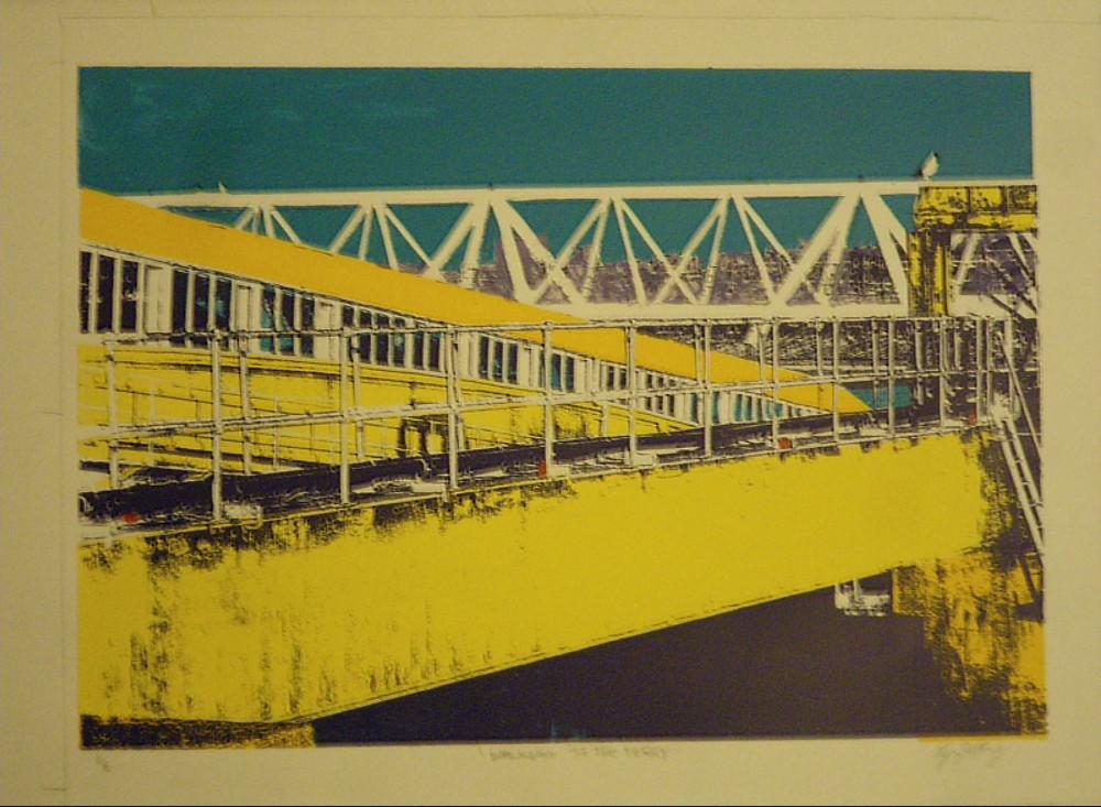 Lynn Jeffery, 'Walkway to the Ferry'
