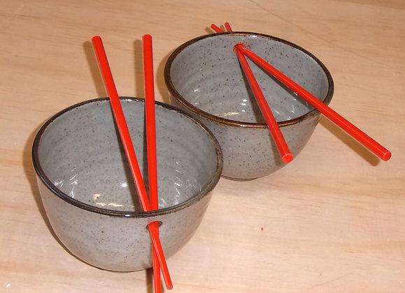 Ceramic Bowl with Chopsticks