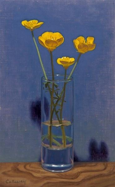 Alex Callaway, 'Buttercups in Shot Glass'
