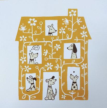 Dog House Card