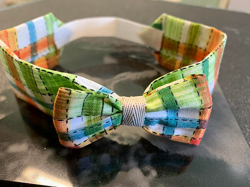 "Fall Plaid Neck Bow 13"" 22"""