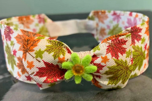 Floral Fall Neck Bow 14""