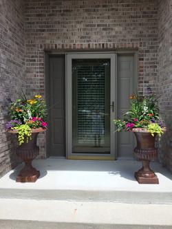 Planters at Door